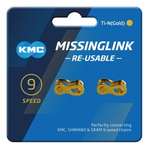 KMC VERSCHLUSS 9-FACH 2PCS / CARD R TI-N