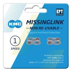 KMC VERSCHLUSS 1-FACH 2PCS / CARD NR 101EPT