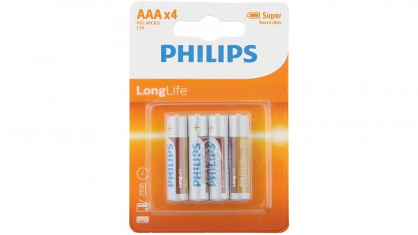 Philips BATTERIE LONGLIFE LR3 MICRO 4ER BLISTER