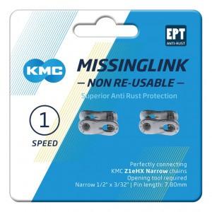 KMC VERSCHLUSS 1-FACH 2PCS / CARD NR Z1EHX NARROW