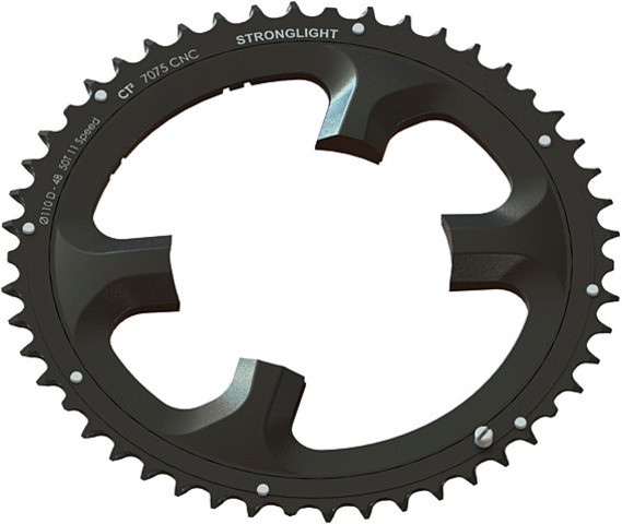 Stronglight KETTENBLATT CT2 SCHW.4 A. DURA ACE 9000,110MM 53 Z.