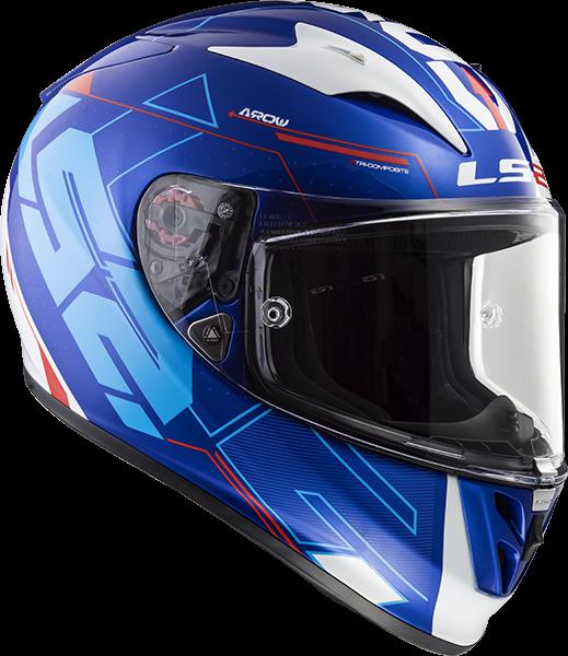 LS2 FF323 ARROW R TECHNO WHITE BLUE