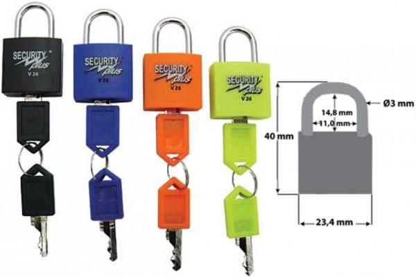 MINI-SCHLOSS-SET SECURITY PLUS,SET A 4 STUECK